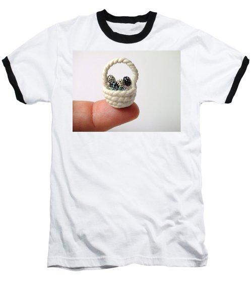 Mini Spotted Easter Basket Baseball T-Shirt