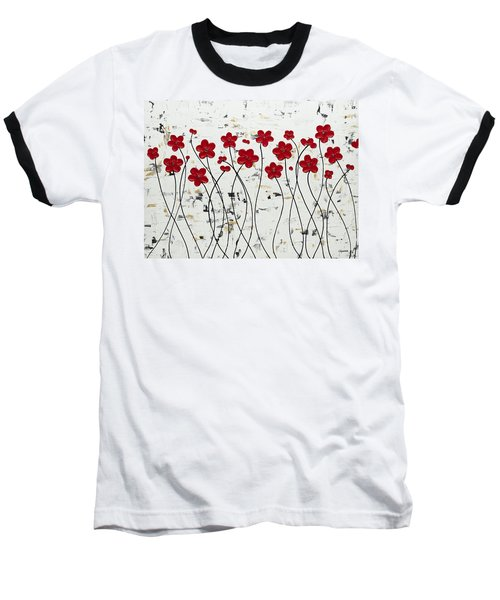 Mis Amores Baseball T-Shirt by Carmen Guedez