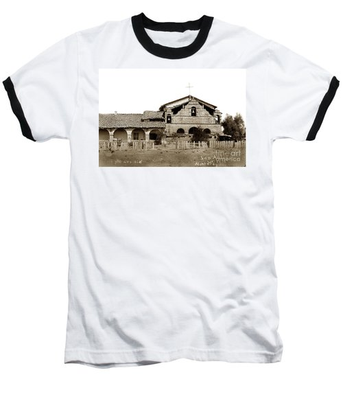 Mission San Antonio De Padua California Circa 1885 Baseball T-Shirt by California Views Mr Pat Hathaway Archives