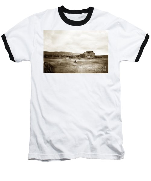 Mission San Juan Capistrano California Circa 1882 By C. E. Watkins Baseball T-Shirt by California Views Mr Pat Hathaway Archives