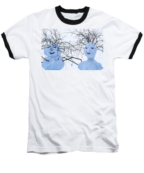 Mister And Missis Snowball - Featured 3 Baseball T-Shirt