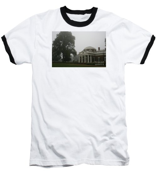Misty Morning At Monticello Baseball T-Shirt by Christiane Schulze Art And Photography