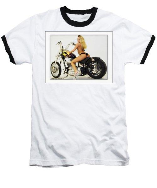 Models And Motorcycles_k Baseball T-Shirt
