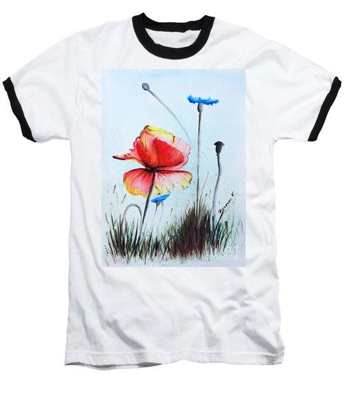 Mohnwiese Baseball T-Shirt