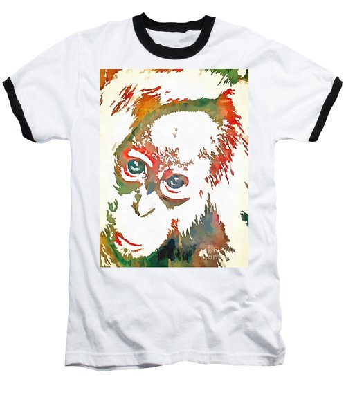 Monkey Pop Art Baseball T-Shirt