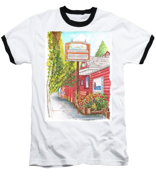 Mono Market Near Mono Lake In Lee Vining-california Baseball T-Shirt