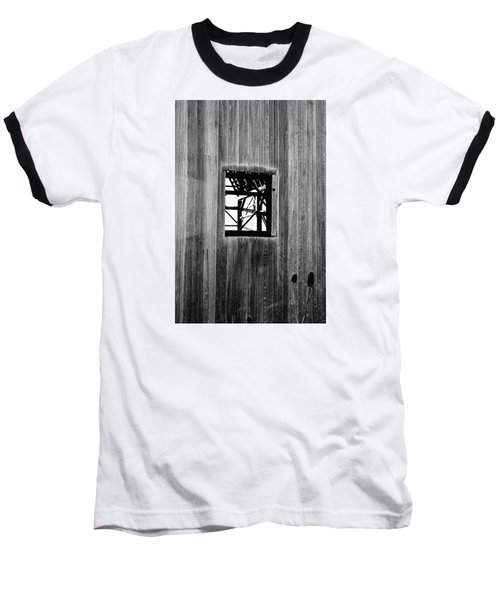 Baseball T-Shirt featuring the photograph Monroe Co. Michigan Barn Window by Daniel Thompson