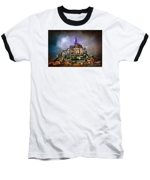 Mont Saint Michel   Baseball T-Shirt by Andrzej Szczerski