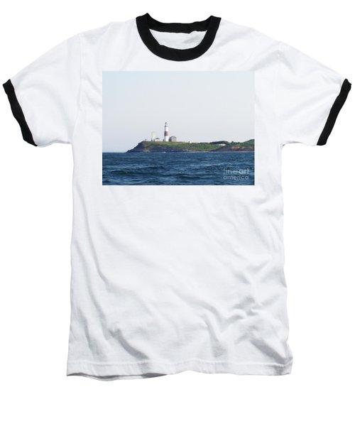 Montauk Lighthouse From The Atlantic Ocean Baseball T-Shirt by John Telfer