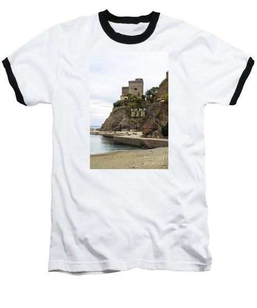 Monterosso Harbor Pier Baseball T-Shirt