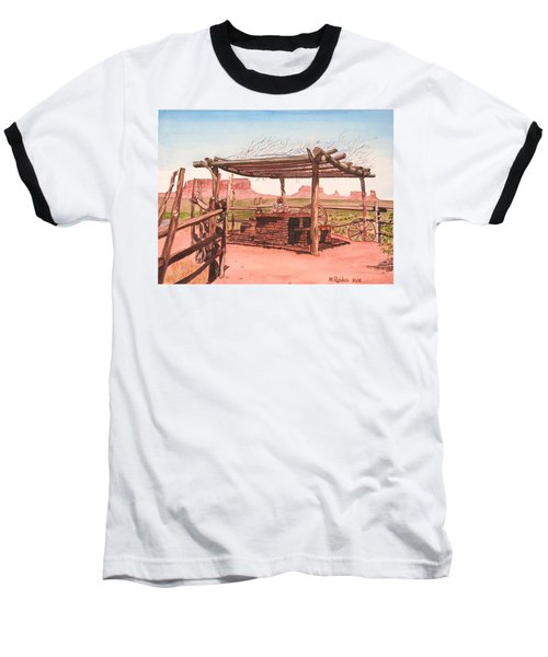 Monument Valley Overlook Baseball T-Shirt by Mike Robles