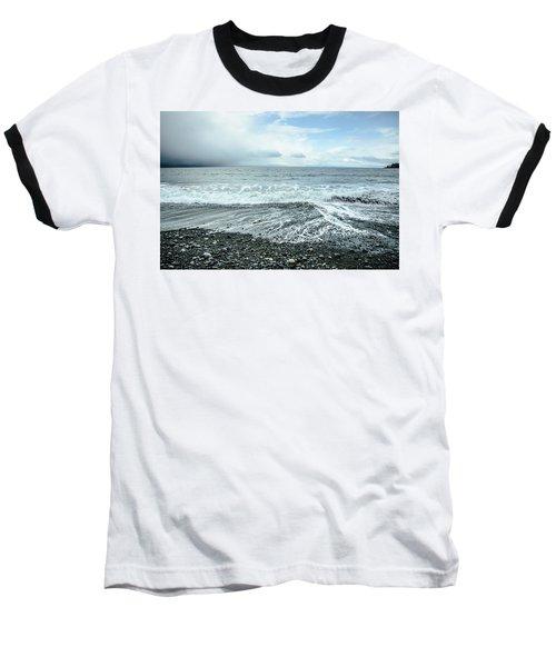 Moody Waves French Beach Baseball T-Shirt by Roxy Hurtubise