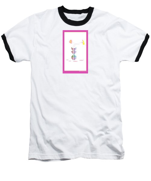 Moon Flower 2 Baseball T-Shirt