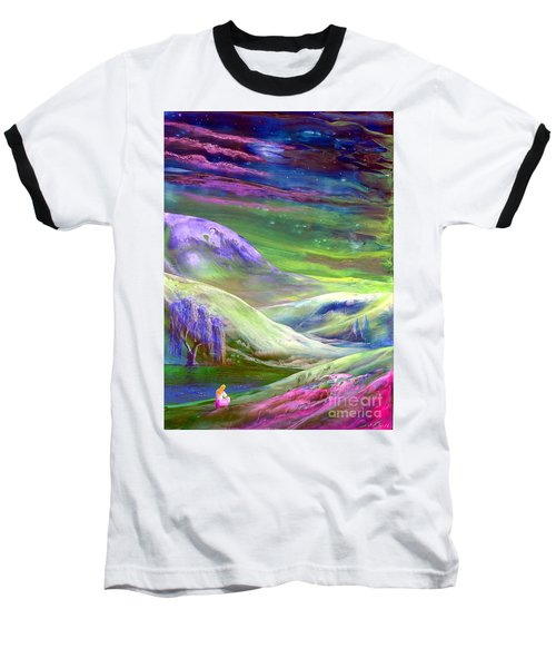 Baseball T-Shirt featuring the painting Moon Shadow by Jane Small