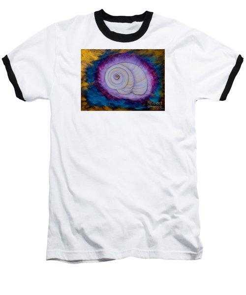 Baseball T-Shirt featuring the painting Moon Snail by Deborha Kerr