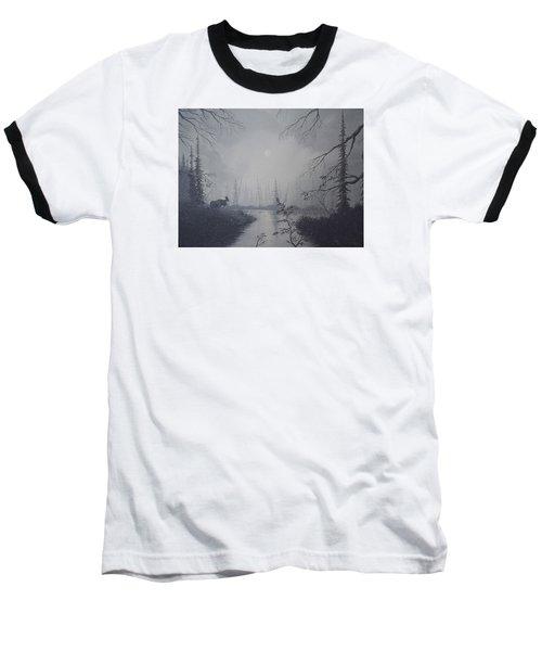 Moose Swanson River Alaska Baseball T-Shirt by Richard Faulkner