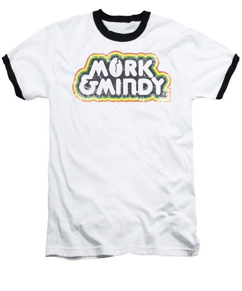 Mork And Mindy - Distressed Mork Logo Baseball T-Shirt