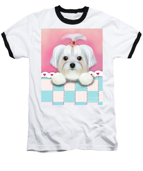 Morkie Shelly Baseball T-Shirt
