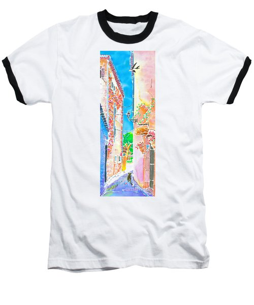 Baseball T-Shirt featuring the painting Morning Air  by Hisayo Ohta