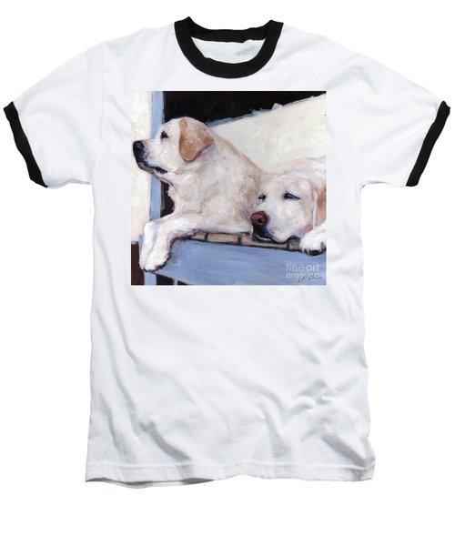 Morning Glory Baseball T-Shirt by Molly Poole