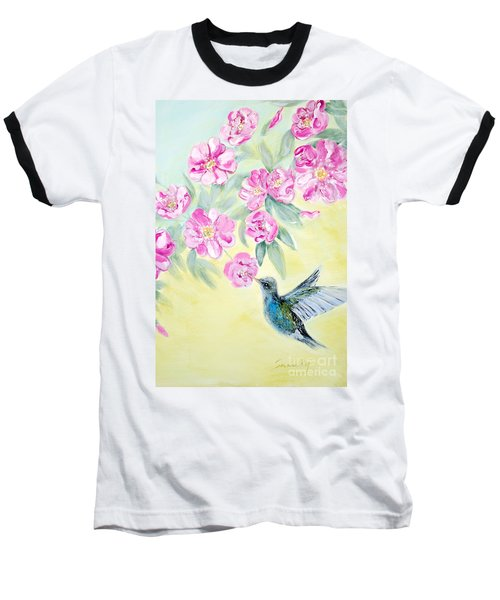 Morning In My Garden. Card Baseball T-Shirt