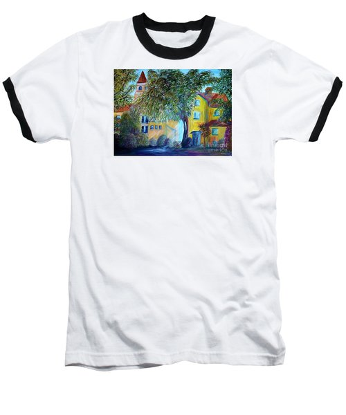 Baseball T-Shirt featuring the painting Morning In Tuscany by Eloise Schneider