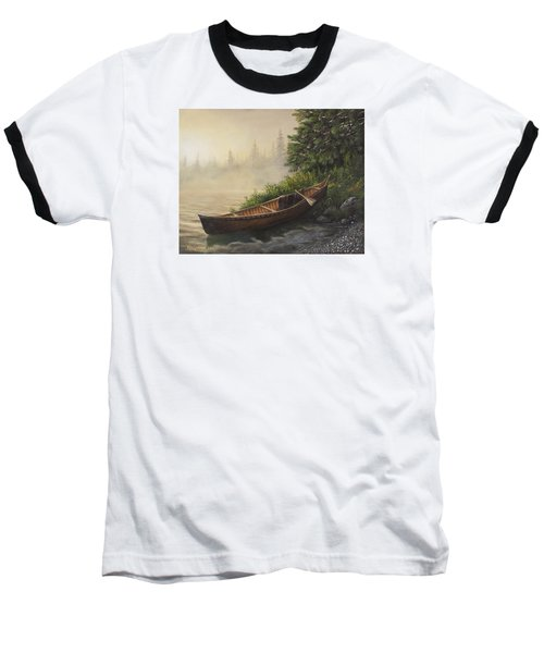 Morning Mist Baseball T-Shirt by Kim Lockman