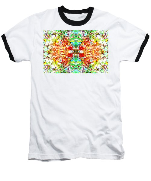 Mosaic Of Spring Abstract Art Photo Baseball T-Shirt