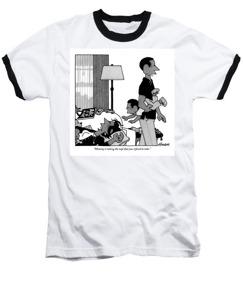 Mother On Sofa Baseball T-Shirt