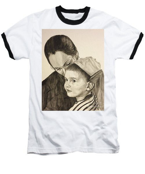 Baseball T-Shirt featuring the painting Mother's Love by Tamir Barkan