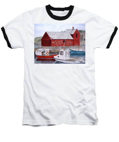 Baseball T-Shirt featuring the painting Motif No 1 by Carol Flagg