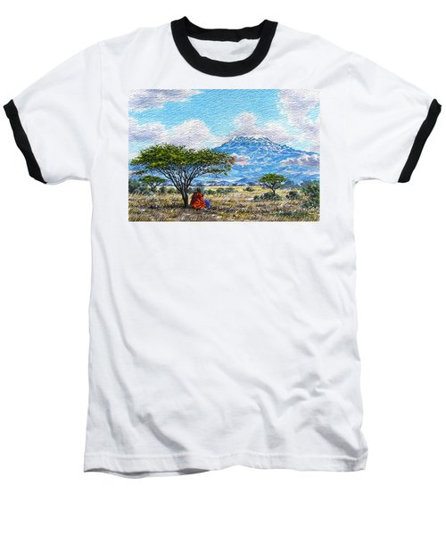 Mount Kilimanjaro Baseball T-Shirt