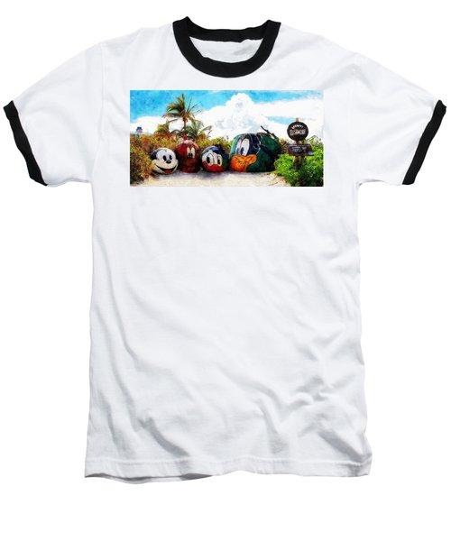 Mount Rustmore Castaway Cay Baseball T-Shirt