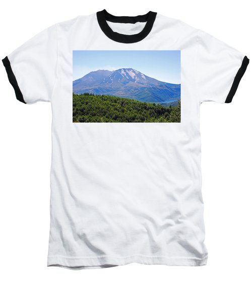 Mount St. Helens And Castle Lake In August Baseball T-Shirt by Connie Fox