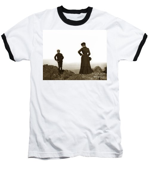 Baseball T-Shirt featuring the photograph Mount Tamalpais Marin County California Circa 1902 by California Views Mr Pat Hathaway Archives