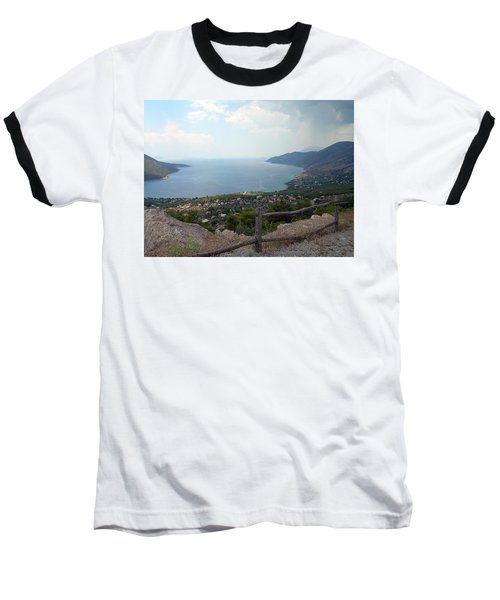 Mountain And Sea View In Greece Baseball T-Shirt