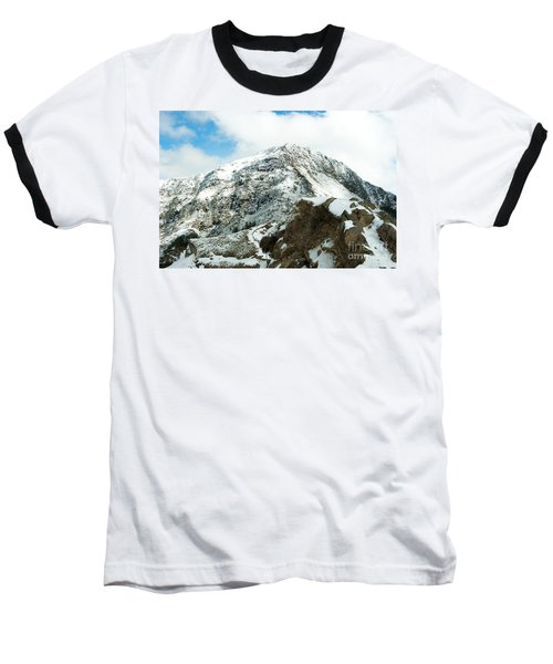 Mountain Covered With Snow Baseball T-Shirt by Yew Kwang