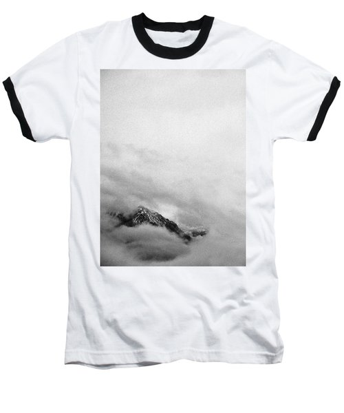 Mountain Peak In Clouds Baseball T-Shirt