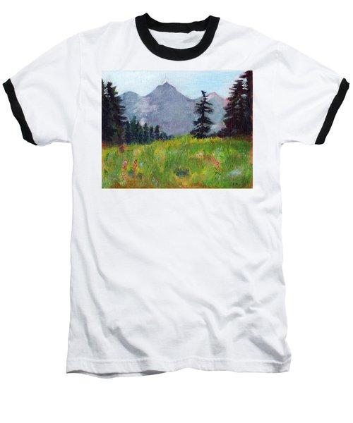 Mountain View Baseball T-Shirt by C Sitton