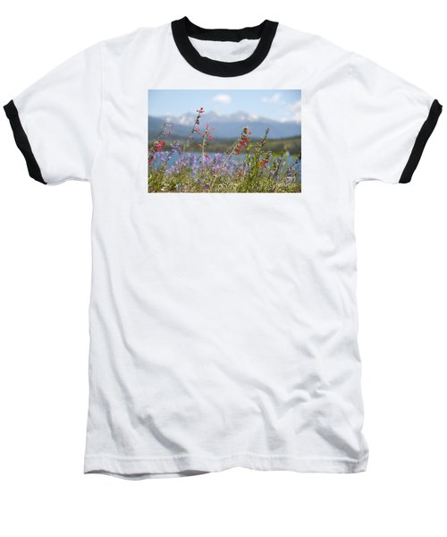 Mountain Wildflowers Baseball T-Shirt