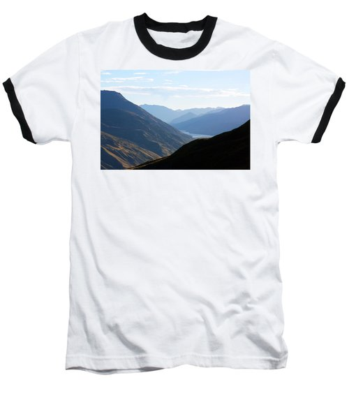 Mountains Meet Lake #3 Baseball T-Shirt by Stuart Litoff