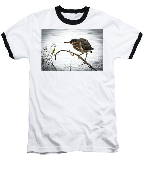 Mr. Green Heron Baseball T-Shirt