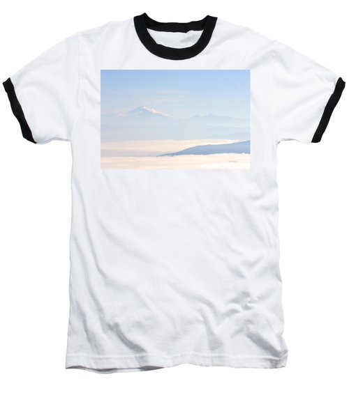 Mt. Baker From San Juan Islands Baseball T-Shirt
