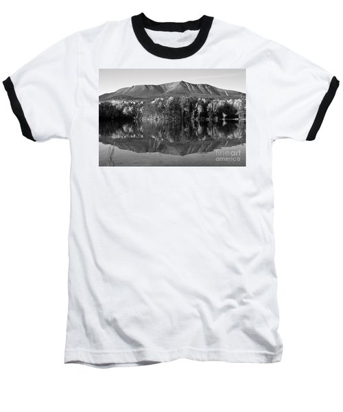 Mt Katahdin Black And White Baseball T-Shirt