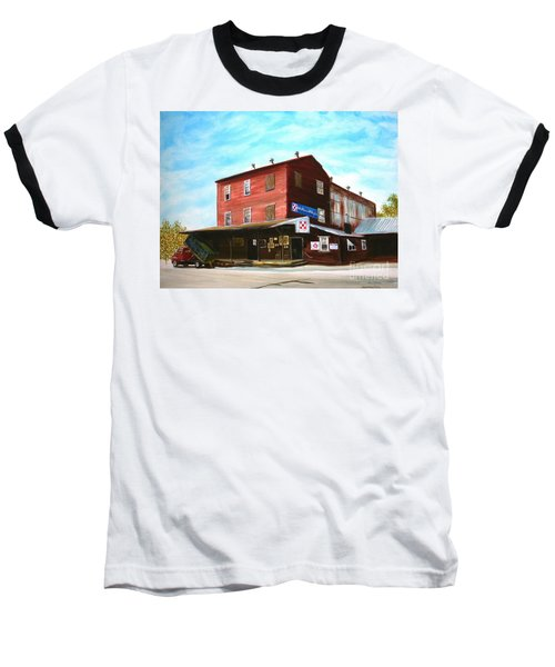 Baseball T-Shirt featuring the painting Mt. Pleasant Milling Company by Stacy C Bottoms