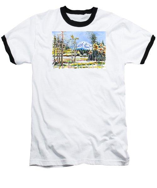 Elk Head On Mt Rainier  Baseball T-Shirt