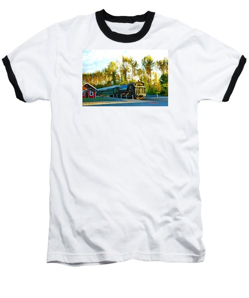 Baseball T-Shirt featuring the photograph Mt Rainier W A Scenic Railroad by Sadie Reneau