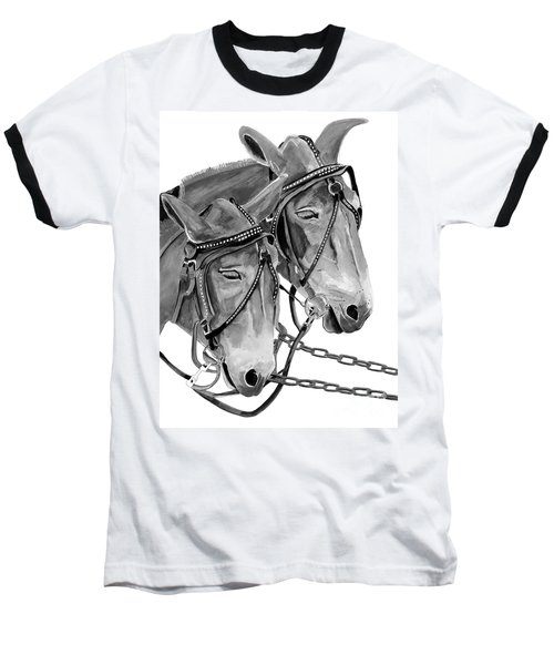 Mules - Beast Of Burden - B And W Baseball T-Shirt