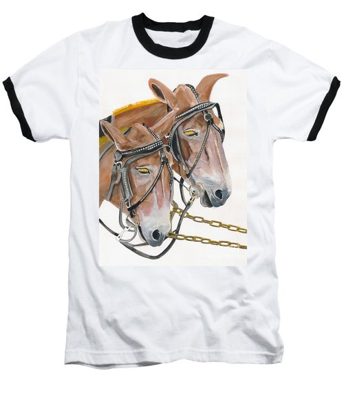 Mules - Two - Beast Of Burden Baseball T-Shirt