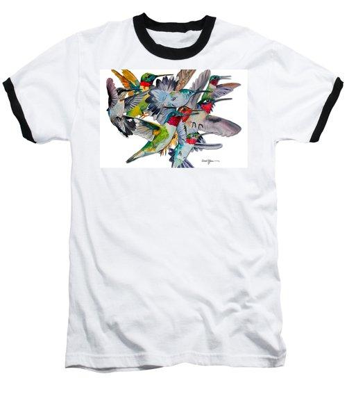 Da053 Multi-hummers By Daniel Adams Baseball T-Shirt